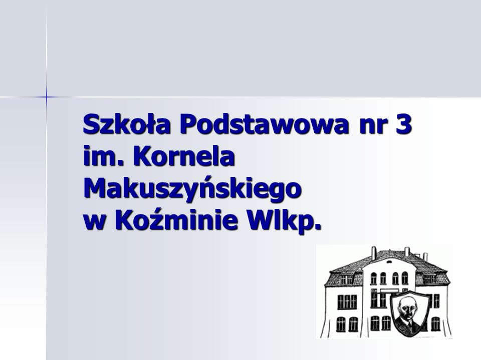 Szkoła Podstawowa nr 3 im. Kornela Makuszyńskiego w Koźminie Wlkp.