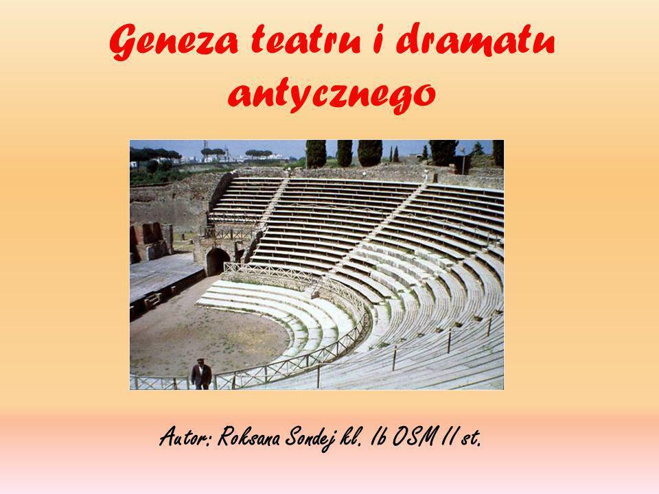 Geneza teatru i dramatu antycznego