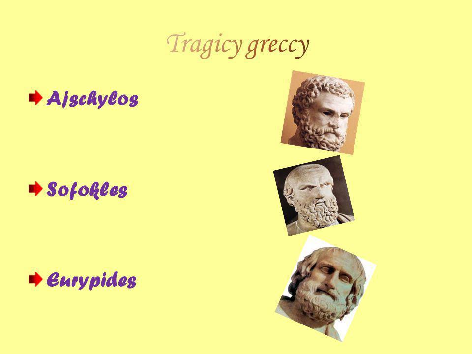 Tragicy greccy Ajschylos Sofokles Eurypides