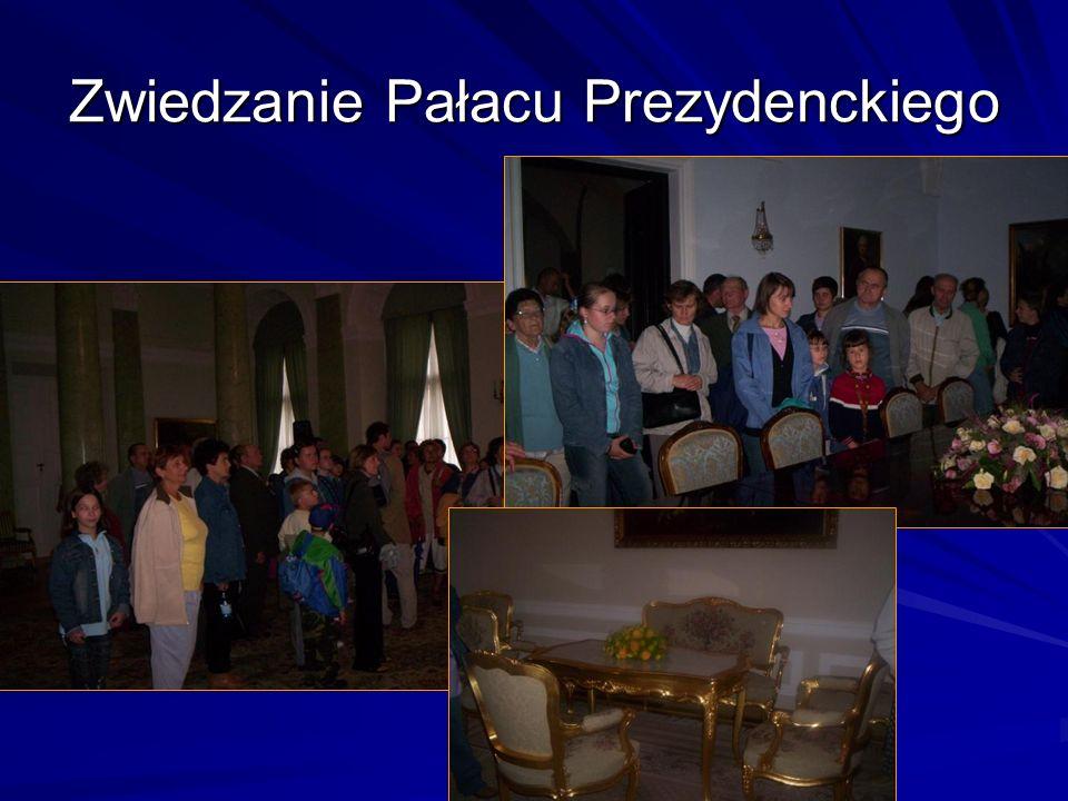 Zwiedzanie Pałacu Prezydenckiego
