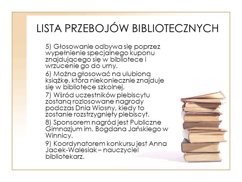 LISTA PRZEBOJÓW BIBLIOTECZNYCH