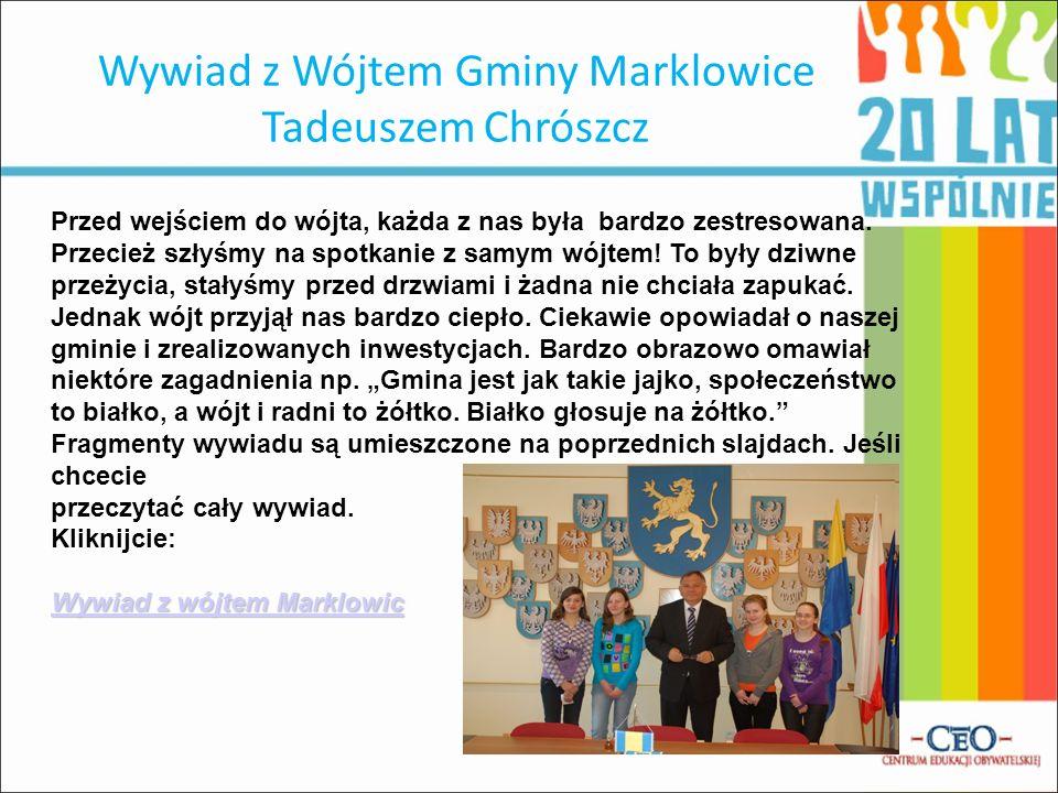 Wywiad z Wójtem Gminy Marklowice Tadeuszem Chrószcz