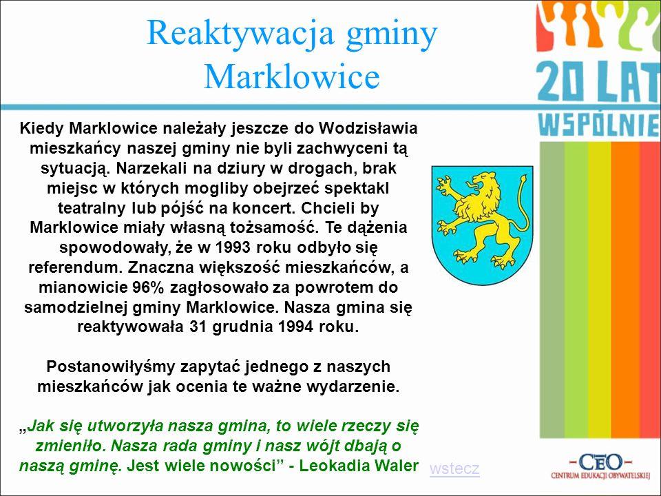 Reaktywacja gminy Marklowice