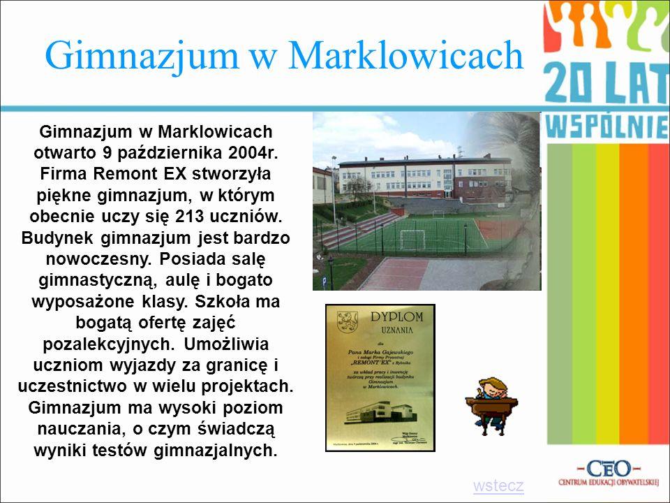 Gimnazjum w Marklowicach