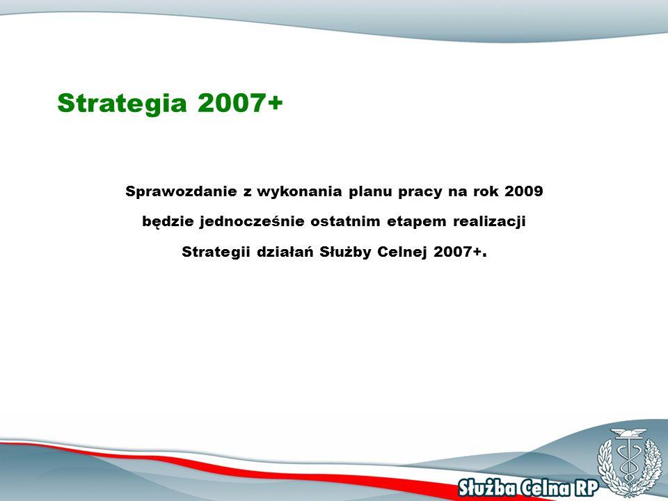 Strategia 2007+ Sprawozdanie z wykonania planu pracy na rok 2009