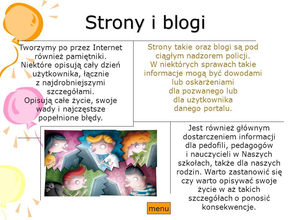Strony i blogi