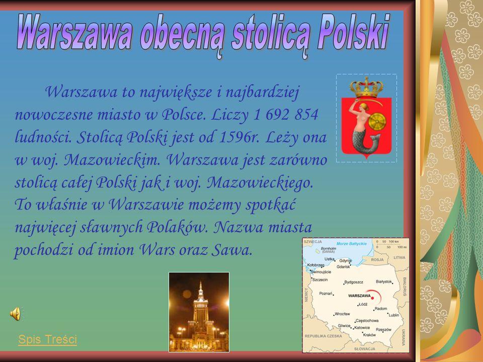 Warszawa obecną stolicą Polski