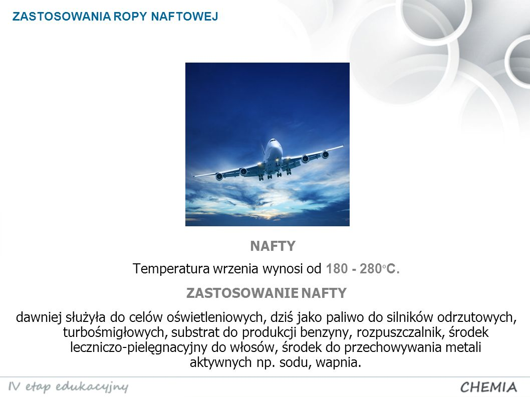 Temperatura wrzenia wynosi od 180 - 280oC.