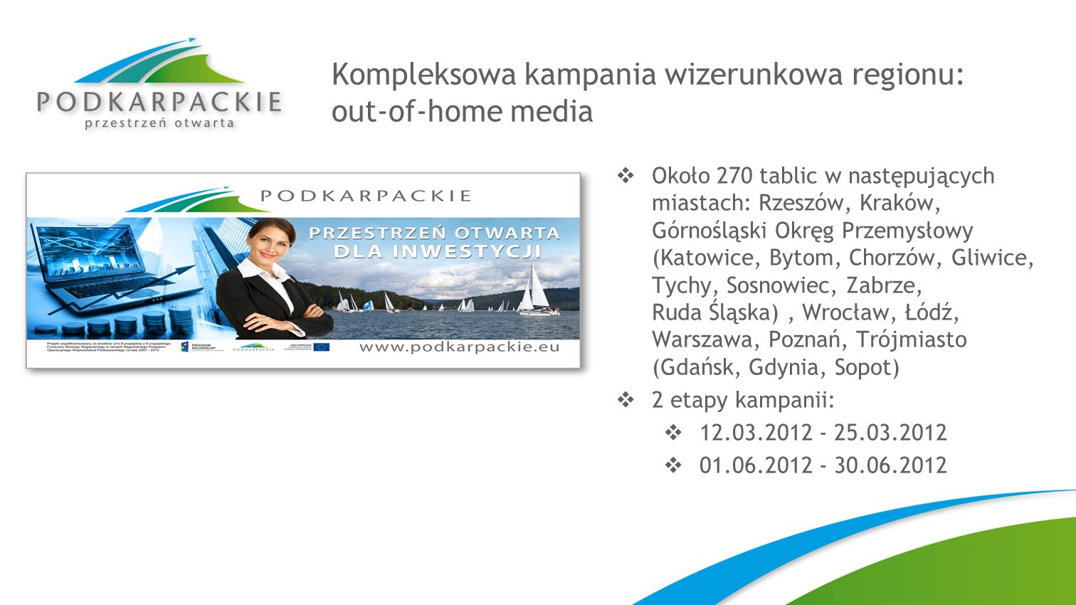 Kompleksowa kampania wizerunkowa regionu: out-of-home media