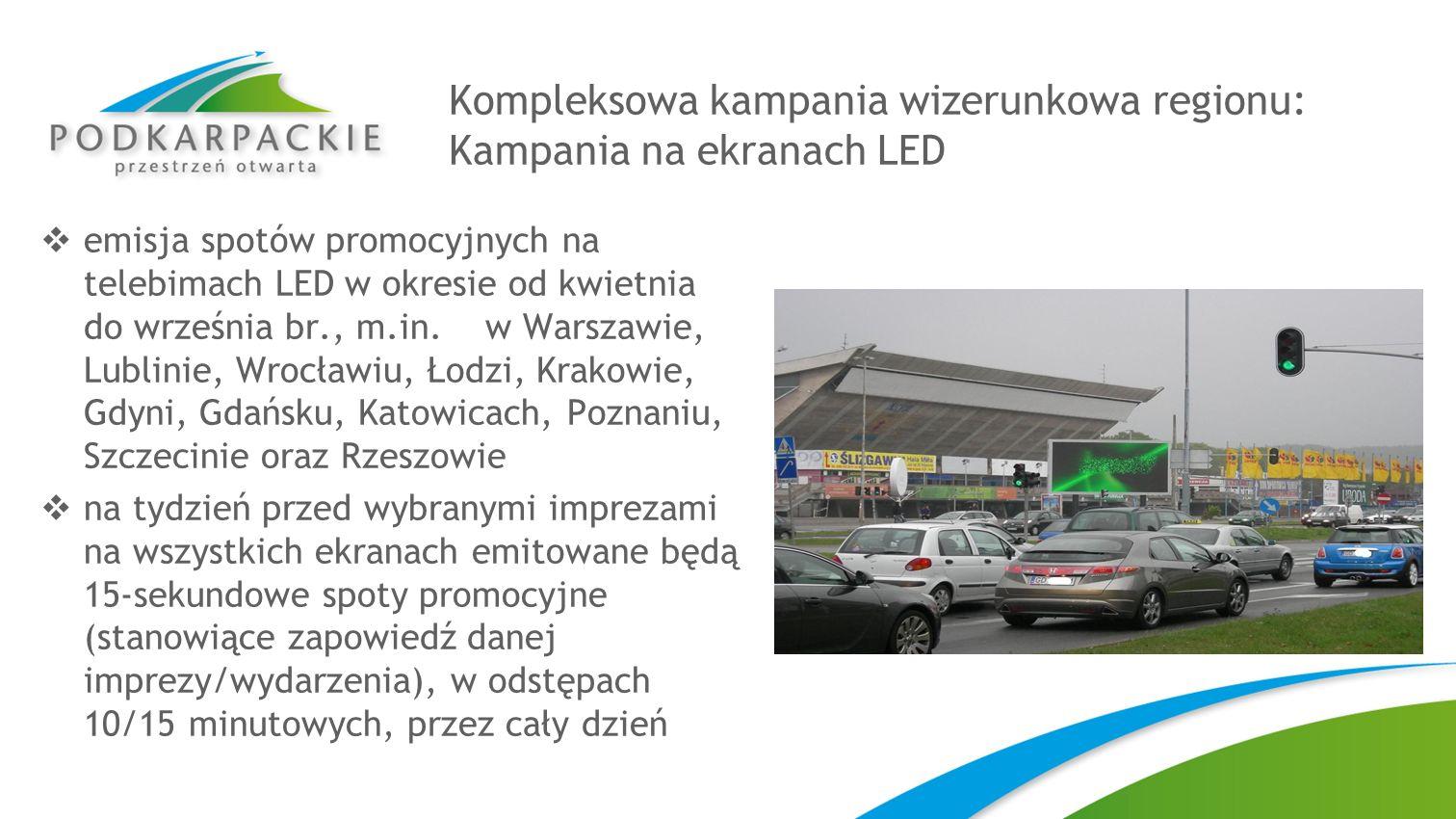 Kompleksowa kampania wizerunkowa regionu: Kampania na ekranach LED