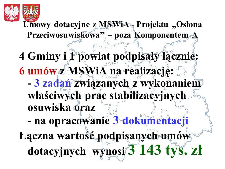 4 Gminy i 1 powiat podpisały łącznie: