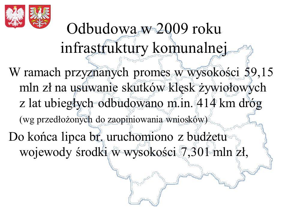 Odbudowa w 2009 roku infrastruktury komunalnej
