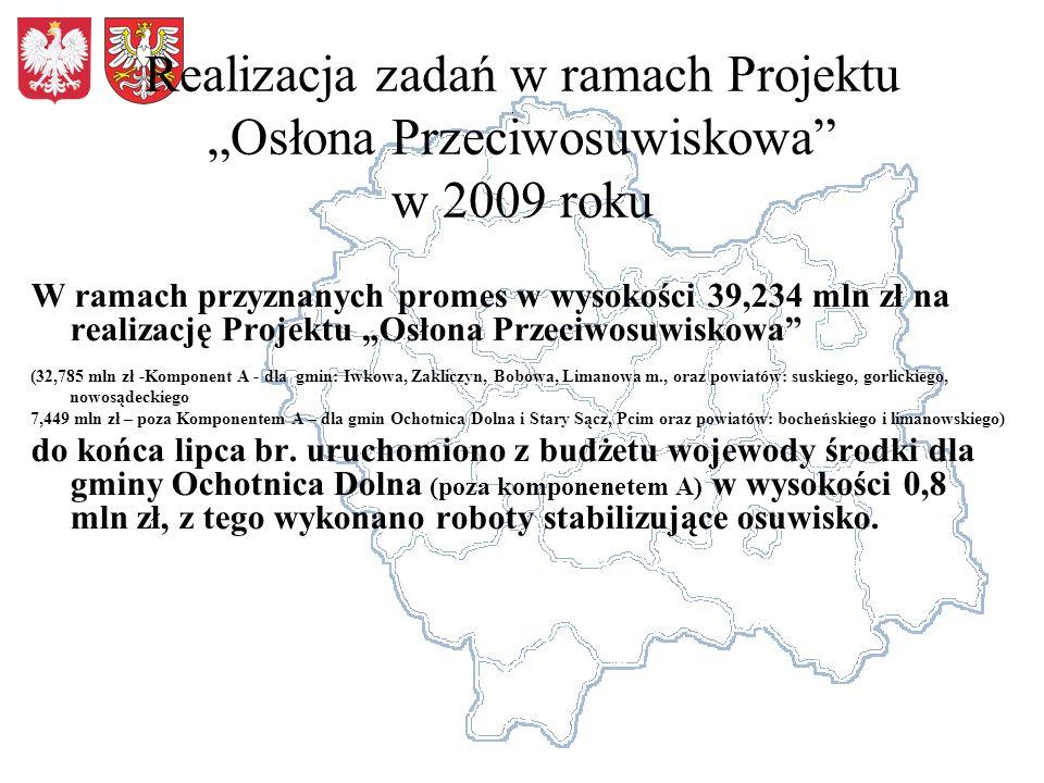"""Realizacja zadań w ramach Projektu """"Osłona Przeciwosuwiskowa w 2009 roku"""