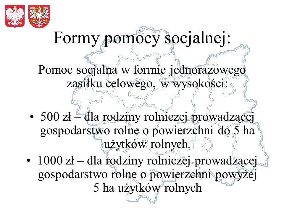 Formy pomocy socjalnej: