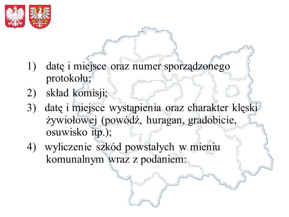 datę i miejsce oraz numer sporządzonego protokołu;
