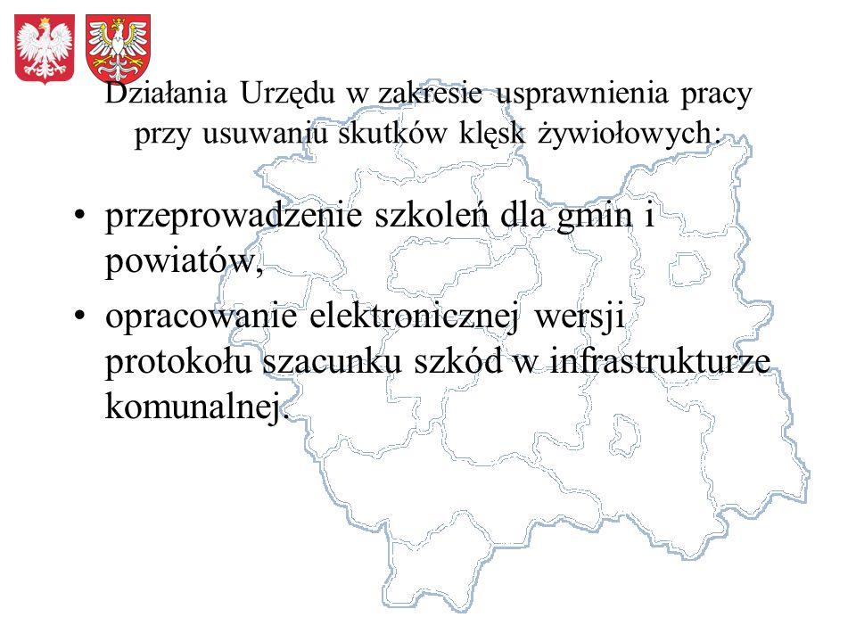 przeprowadzenie szkoleń dla gmin i powiatów,