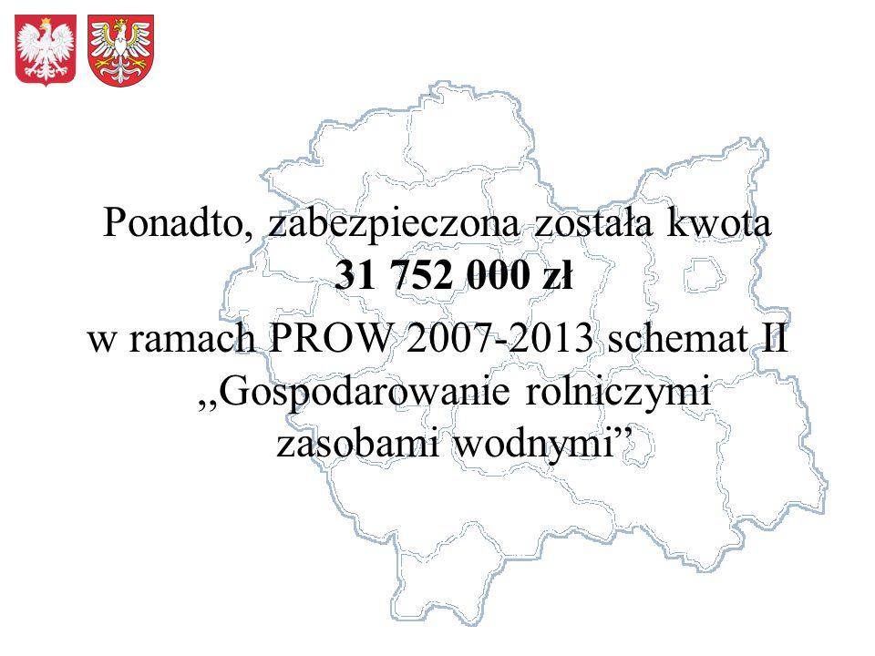 Ponadto, zabezpieczona została kwota 31 752 000 zł