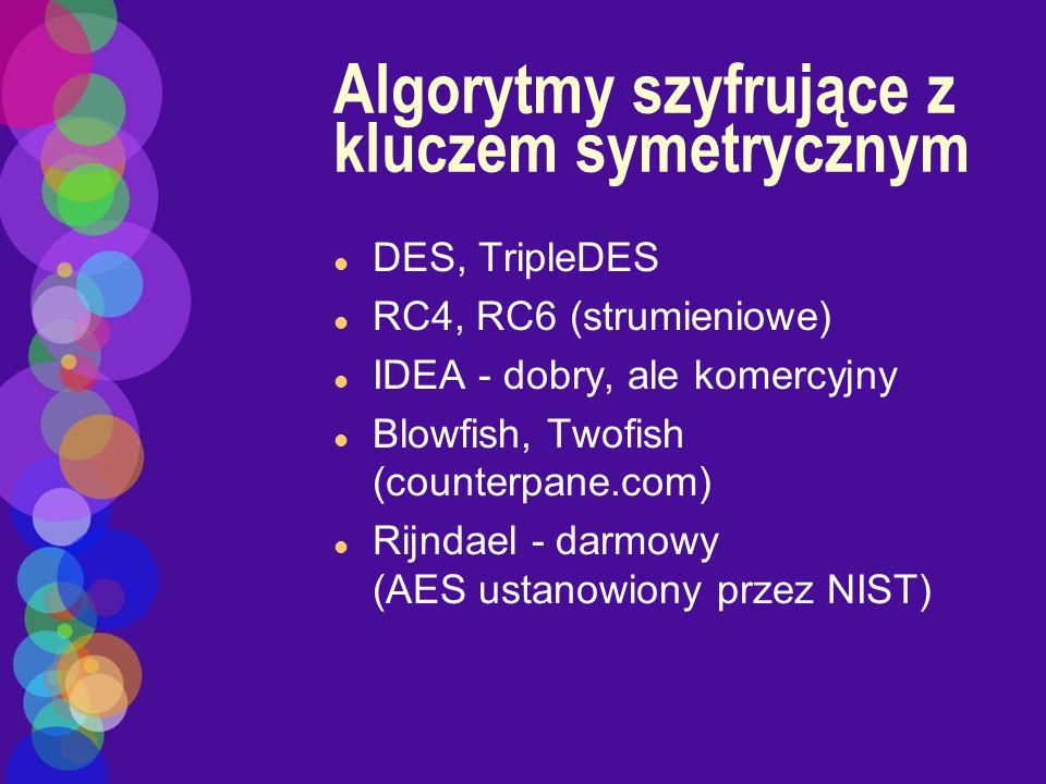 Algorytmy szyfrujące z kluczem symetrycznym