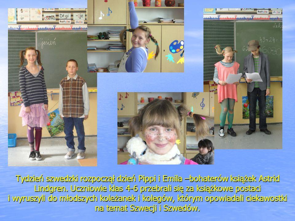 Tydzień szwedzki rozpoczął dzień Pippi i Emila –bohaterów książek Astrid Lindgren.