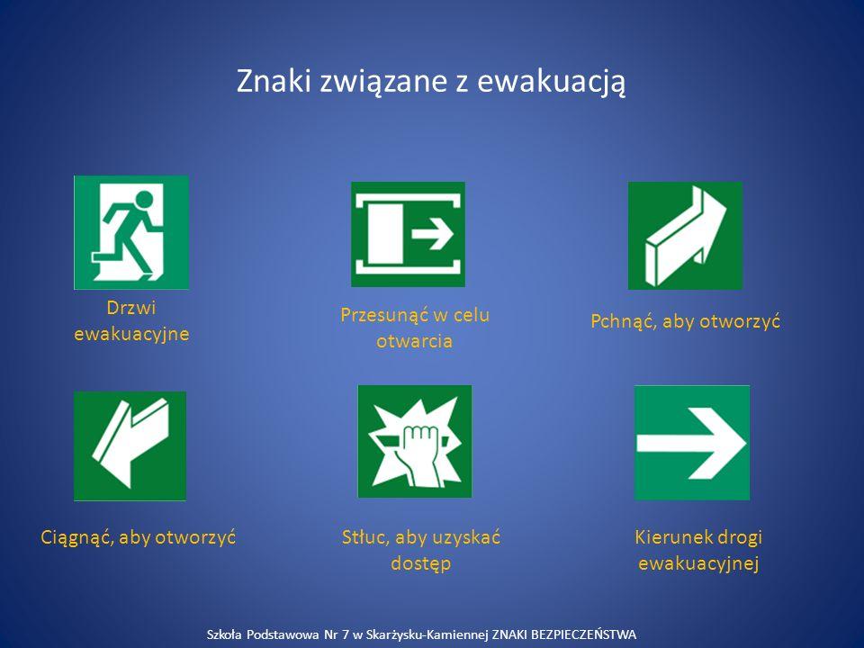 Znaki związane z ewakuacją