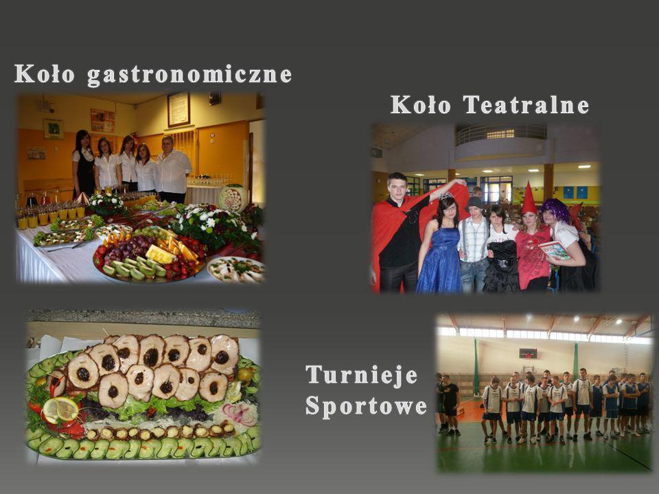 Koło gastronomiczne Koło Teatralne Turnieje Sportowe
