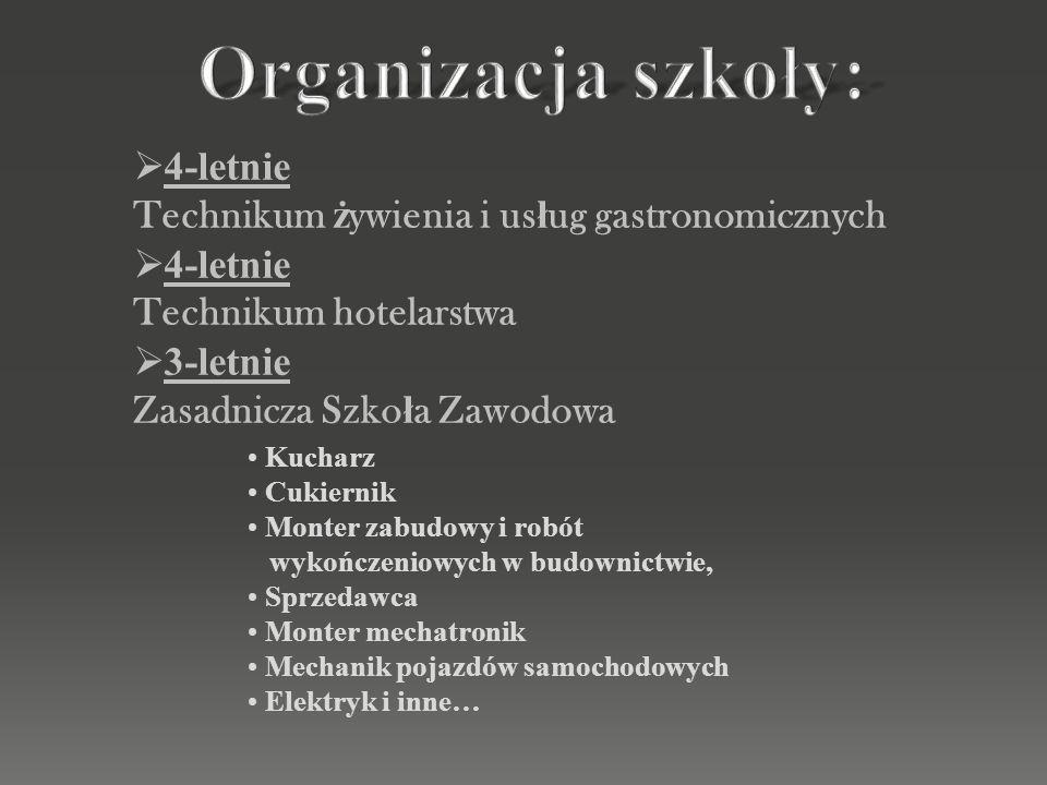 Organizacja szkoły: 4-letnie