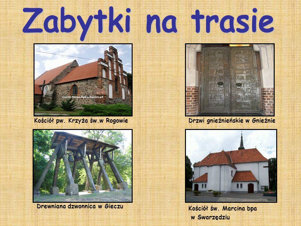 Zabytki na trasie Kościół pw. Krzyża św.w Rogowie