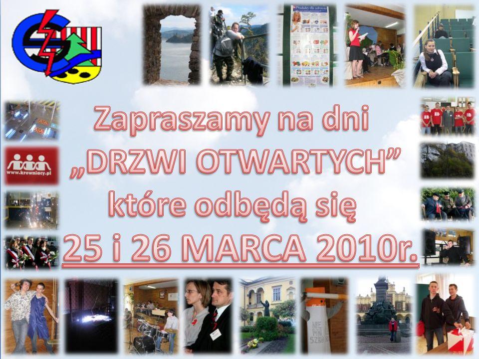 """25 i 26 MARCA 2010r. Zapraszamy na dni """"DRZWI OTWARTYCH"""