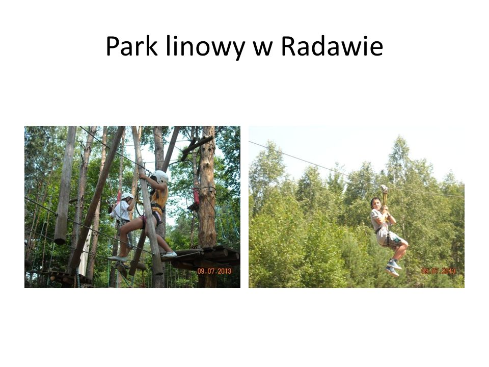 Park linowy w Radawie