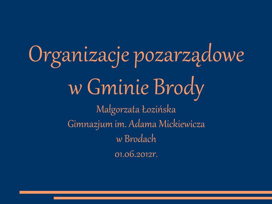 Organizacje pozarządowe w Gminie Brody