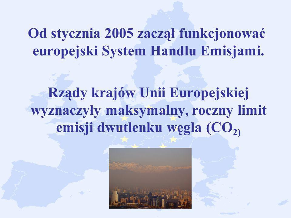 Od stycznia 2005 zaczął funkcjonować europejski System Handlu Emisjami.