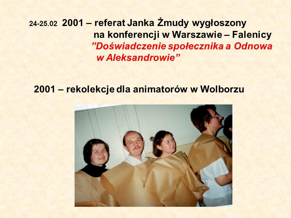 2001 – rekolekcje dla animatorów w Wolborzu