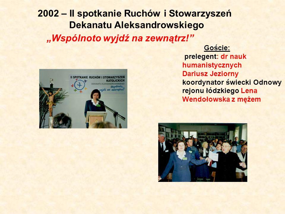 2002 – II spotkanie Ruchów i Stowarzyszeń Dekanatu Aleksandrowskiego