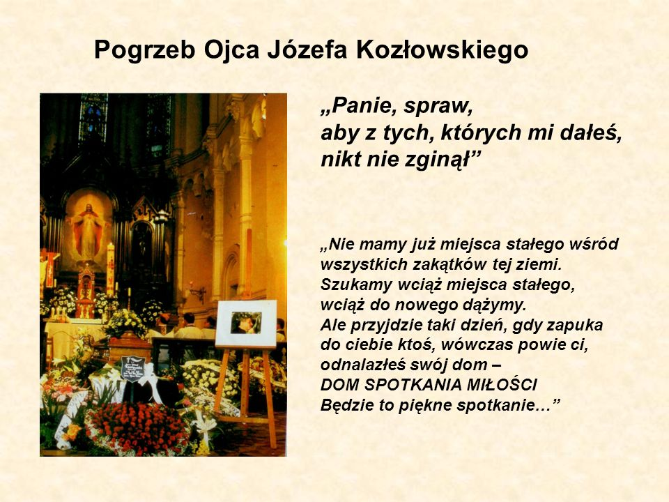 Pogrzeb Ojca Józefa Kozłowskiego
