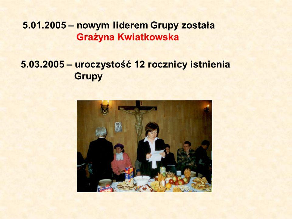 5.01.2005 – nowym liderem Grupy została Grażyna Kwiatkowska