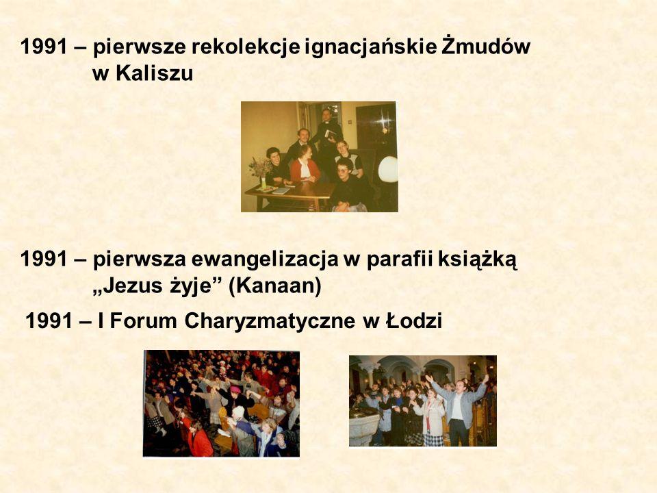 1991 – pierwsze rekolekcje ignacjańskie Żmudów w Kaliszu