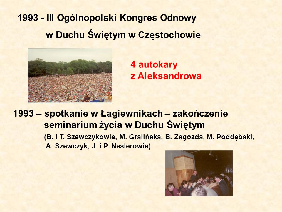 1993 - III Ogólnopolski Kongres Odnowy