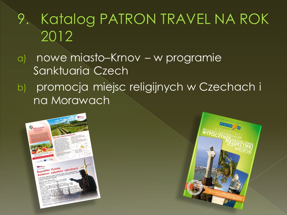 Katalog PATRON TRAVEL NA ROK 2012