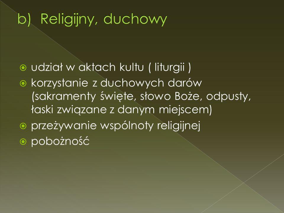 Religijny, duchowy udział w aktach kultu ( liturgii )