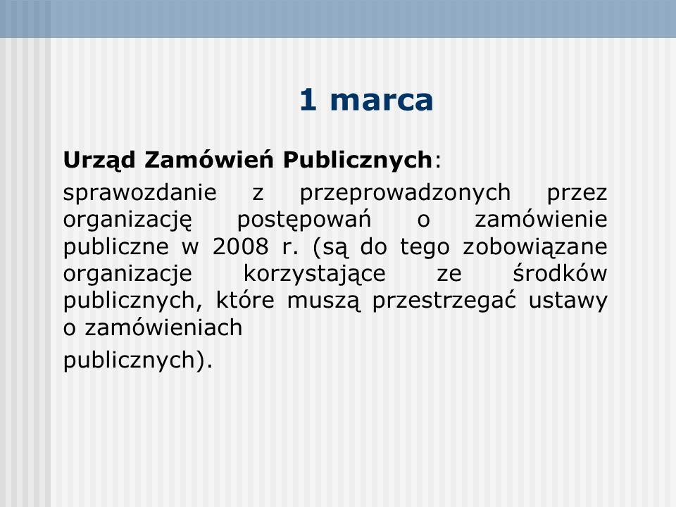 1 marca Urząd Zamówień Publicznych: