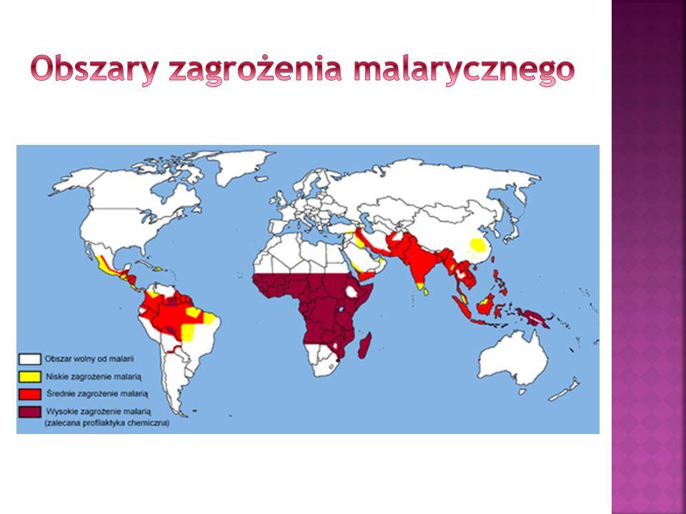 Obszary zagrożenia malarycznego