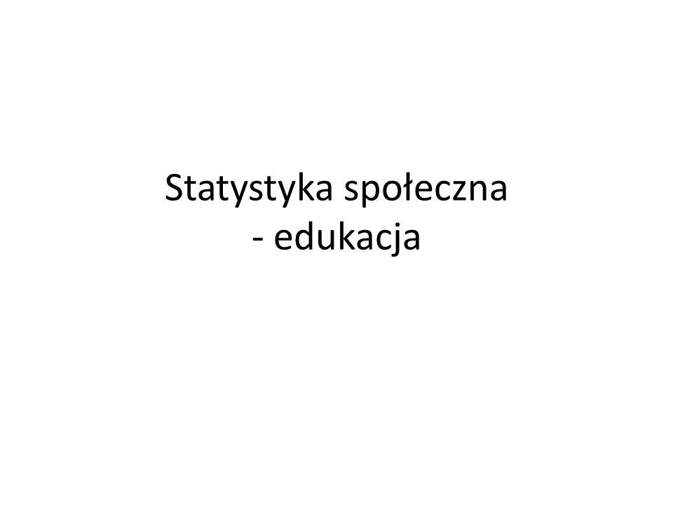 Statystyka społeczna - edukacja