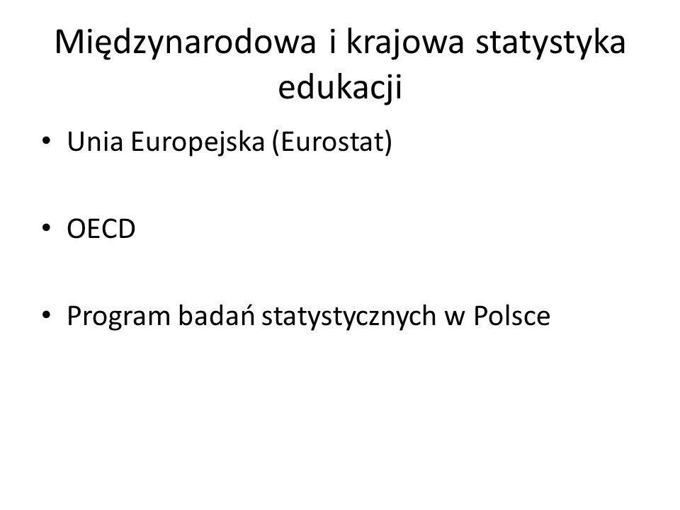 Międzynarodowa i krajowa statystyka edukacji