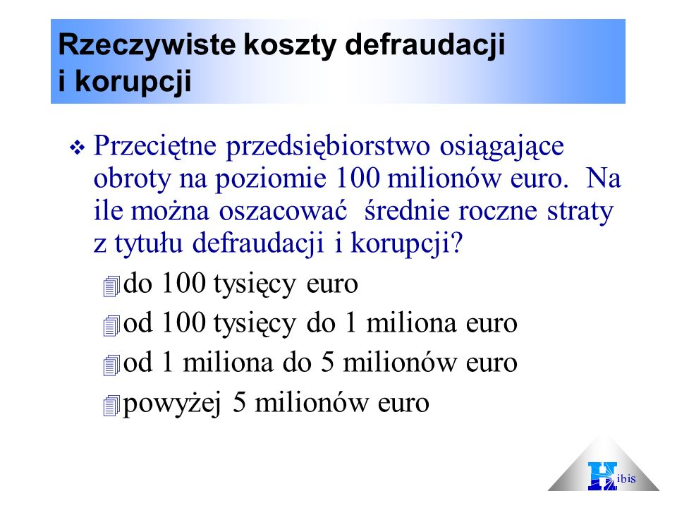 Rzeczywiste koszty defraudacji i korupcji