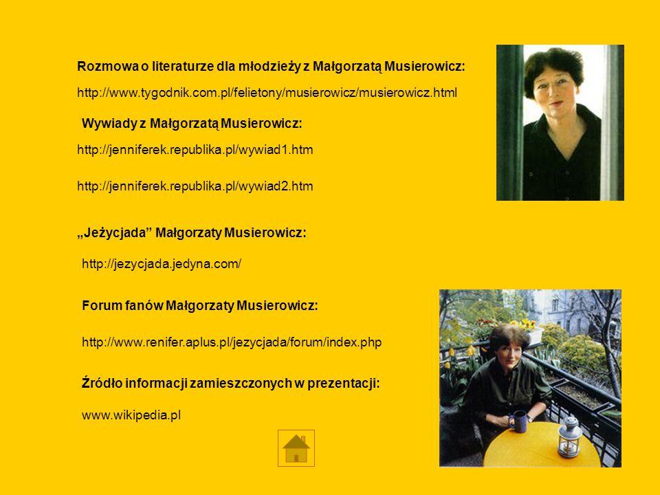 Rozmowa o literaturze dla młodzieży z Małgorzatą Musierowicz: