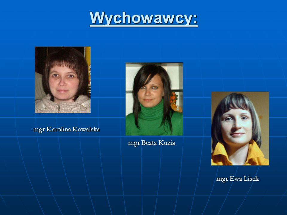 Wychowawcy: mgr Karolina Kowalska mgr Beata Kuzia mgr Ewa Lisek