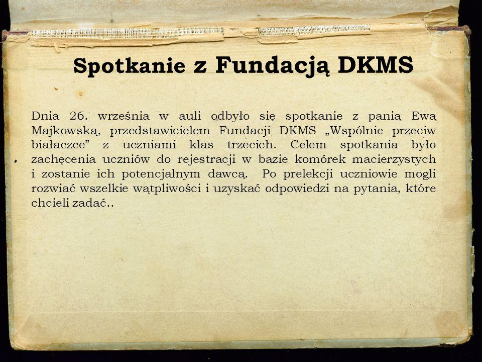 Spotkanie z Fundacją DKMS