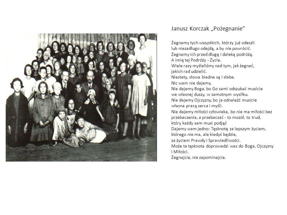 """Janusz Korczak """"Pożegnanie"""