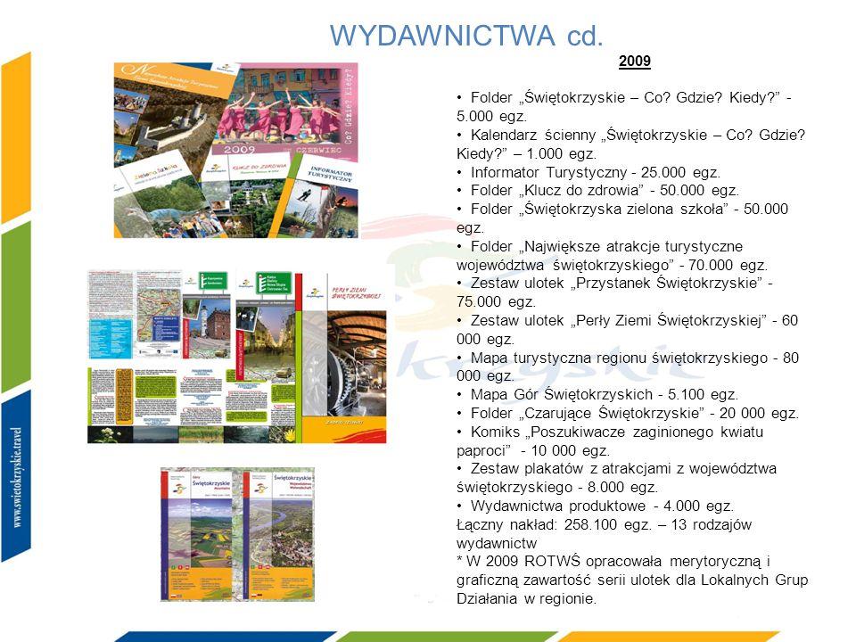 """WYDAWNICTWA cd. 2009. • Folder """"Świętokrzyskie – Co Gdzie Kiedy - 5.000 egz."""