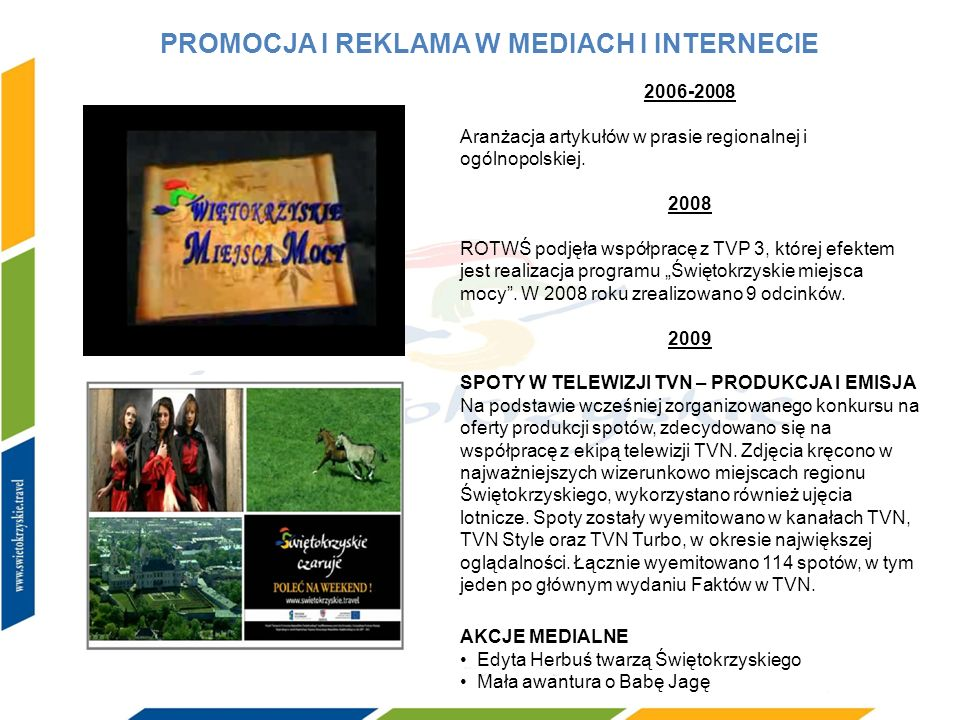 PROMOCJA I REKLAMA W MEDIACH I INTERNECIE